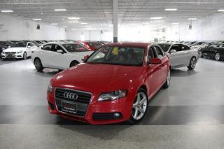 Used 2012 Audi A4 PREMIUM QUATTRO I LEATHER I SUNROOF I HEATED SEATS I CRUISE for sale in Mississauga, ON