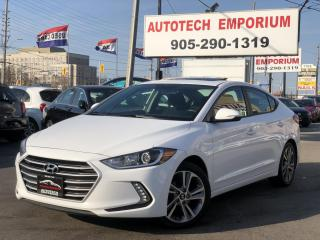 Used 2017 Hyundai Elantra GLS Prl White Sunroof/Navigaiton/Camera/Heated Seats/Alloys for sale in Mississauga, ON