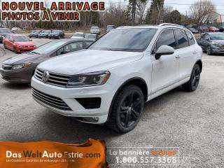 Used 2017 Volkswagen Touareg Wolfsburg, Cuir, Toit, Automatique for sale in Sherbrooke, QC