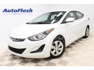 Used 2016 Hyundai Elantra *L+ *AUTO *A/C *GR-ELECTRIQUE *TRÈS-PROPRE for sale in St-Hubert, QC