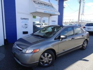 Used 2006 Honda Civic DX-G, 4 Dr, Automatic, Service Records, Local Car for sale in Langley, BC