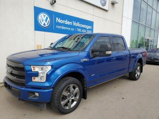Used 2017 Ford F-150 LARIAT FX4 SUPERCREW - HTD + COOLED SEATS / PANO ROOF / NAVI for sale in Edmonton, AB