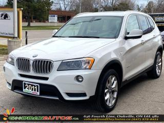 Used 2011 BMW X3 28i SINGLE OWNER LOW KM NO ACCIDENT AWD CERTIFIED for sale in Oakville, ON