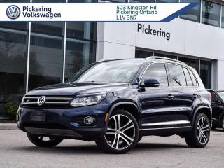 Used 2017 Volkswagen Tiguan HIGHLINE R-LINE! BROWN LEATHER! for sale in Pickering, ON