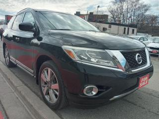 Used 2013 Nissan Pathfinder PLATINUM-7 SEATS-4WD-129K-NAVI-BK CAM-ALLOYS for sale in Scarborough, ON