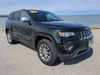 Used 2014 Jeep Grand Cherokee Limited 4x4 Heated Leather Moon Roof Bluetooth Backup Cam Low K's for sale in Belle River, ON