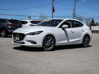 Used 2018 Mazda MAZDA3 GT- LEATHER, BOSE, MOONROOF, BLUETOOTH, NAVI for sale in Hamilton, ON