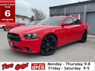 Used 2014 Dodge Charger R/T | Red Leather | Nav | Hemi 5.7L | New Tires | for sale in St Catharines, ON