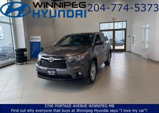 Used 2016 Toyota Highlander LIMITED  for sale in Winnipeg, MB
