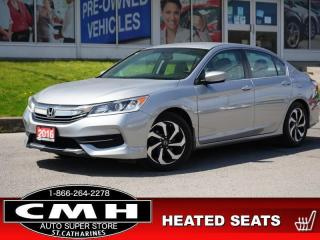 Used 2016 Honda Accord Sedan LX  CAM BLUETOOTH HTD-SEATS 17-AL for sale in St. Catharines, ON