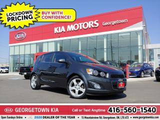 Used 2016 Chevrolet Sonic LT | BU CAM | SUNROOF| HTD SEATS | BT| 77K| ALLOYS for sale in Georgetown, ON