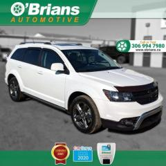 Used 2016 Dodge Journey Crossroad - Accident Free! w/AWD, Nav, Leather, Third-row, Heate for sale in Saskatoon, SK