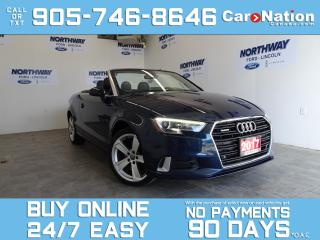 Used 2017 Audi A3 CONVERTIBLE | QUATTRO | LEATHER | FUN IN THE SUN! for sale in Brantford, ON