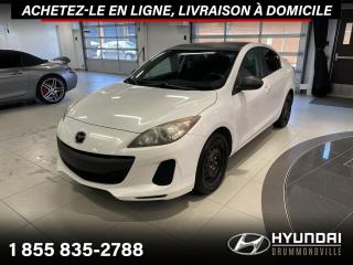 Used 2012 Mazda MAZDA3 GX + GARANTIE + A/C + GROUPE ELECTRIQUE for sale in Drummondville, QC