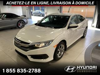 Used 2016 Honda Civic LX + GARANTIE + CAMERA + A/C + MAGS + WO for sale in Drummondville, QC