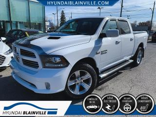 Used 2016 RAM 1500 SPORT CREW CAB, 4X4, CUIR, CAMÉRA DE REC for sale in Blainville, QC