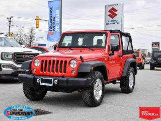 Used 2015 Jeep Wrangler Sport 4x4 ~6-Speed Manual ~Fog Lamps ~Alloy Wheels for sale in Barrie, ON