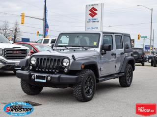 Used 2018 Jeep Wrangler Willys 4x4 ~Bluetooth ~Fog Lamps ~Keyless ~Alloys for sale in Barrie, ON