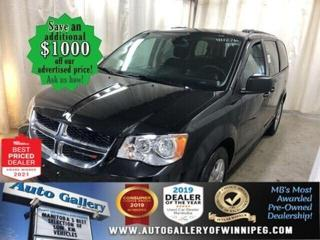 Used 2019 Dodge Grand Caravan SXT*Reverse Camera/Satellite Radio/BLUETOOTH for sale in Winnipeg, MB