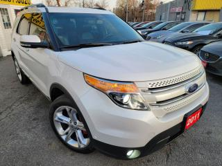 Used 2011 Ford Explorer LIMITED/CAMERA/LEATHER/ROOF/7PASS/LOADED/ALLOYS for sale in Scarborough, ON