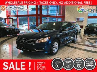 Used 2018 Volkswagen Passat Trendline+ - No Accident / Local / No Dealer Fees for sale in Richmond, BC