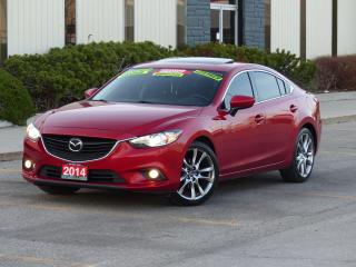 Used 2014 Mazda MAZDA6 GT,LEATHER,NAVIGATION,BACK-CAM,CERTIFIED,TOP MODEL for sale in Mississauga, ON
