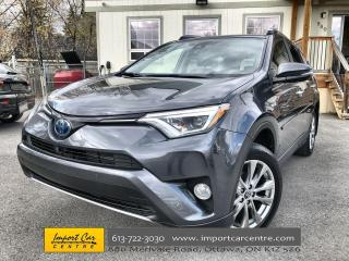 Used 2018 Toyota RAV4 Hybrid Limited HYBRID  LEATHER  ROOF  NAVI  JBL SOUND  BA for sale in Ottawa, ON