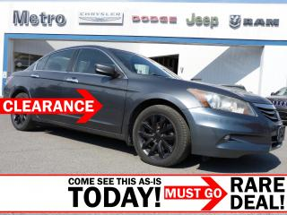 Used 2012 Honda Accord EX-L V6 w/Navi  AS-IS for sale in Ottawa, ON