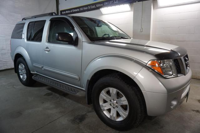 2007 Nissan Pathfinder LE 4WD 7 PSSNGRS CERTIFIED 2YR WARRANTY DVD HEATED LEATHER ALLOYS CRUISE