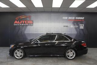 Used 2014 Mercedes-Benz E-Class E350 4MATIC CUIR TAN + TOIT PANO + GPS NAV CAMERA for sale in Lévis, QC