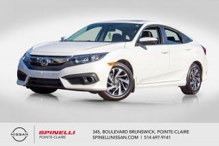 Used 2017 Honda Civic EX SIEGES CHAUFFANTS / CAMERA DE RECUL / ÉCRAN TACTILE for sale in Montréal, QC