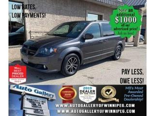 Used 2017 Dodge Grand Caravan GT* Reverse Camera/Satellite Radio/REMOTE STARTER for sale in Winnipeg, MB
