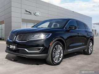 Used 2018 Lincoln MKX Reserve Premium SUV for sale in Winnipeg, MB
