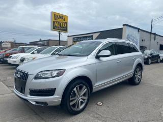 Used 2012 Audi Q7 3.0 Premium Plus NO ACCIDENTS, PRESTIGE TRIM, VERY WELL MAINTAINED! for sale in Etobicoke, ON