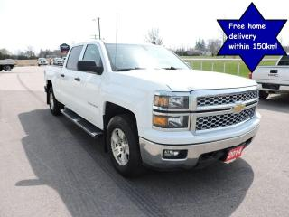 Used 2014 Chevrolet Silverado 1500 LT 4X4 Crew cab Seats 6 Back-up camera for sale in Gorrie, ON