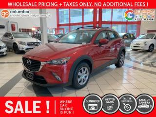 Used 2016 Mazda CX-3 GS - Local / Sunroof / Leather / No Dealer Fees for sale in Richmond, BC