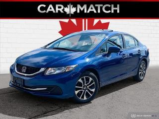 Used 2015 Honda Civic EX / AUTO / ROOF / NO ACCIDENTS for sale in Cambridge, ON
