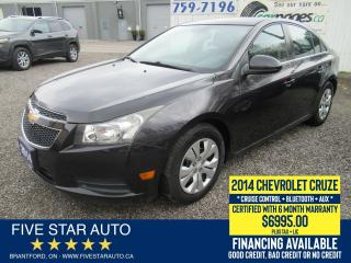 Used 2014 Chevrolet Cruze 1LT - Certified w/ 6 Month Warranty for sale in Brantford, ON
