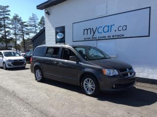 Used 2019 Dodge Grand Caravan SXT Plus HALF LEATHER, DVD, PWR SEAT, ALLOYS, BACKUP CAM!! for sale in Kingston, ON