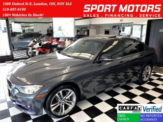 Used 2013 BMW 3 Series 328i+Leather+Roof+Xenons+GPS+ACCIDENT FREE for sale in London, ON