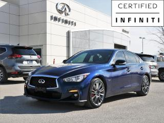 Used 2018 Infiniti Q50 Red Sport 400 AWD, 400hp, Bose Audio, Memory Seat, Remote Start for sale in Winnipeg, MB