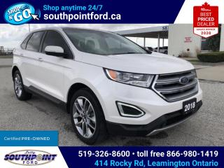 Used 2018 Ford Edge Titanium TITANIUM|AWD|HTD & COOLED SEATS|NAV|SUNROOF|ADAPTIVE CRUISE for sale in Leamington, ON