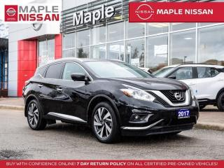 Used 2017 Nissan Murano Platinum AWD Apple Carplay Blind Spot Navi 360 Cam for sale in Maple, ON