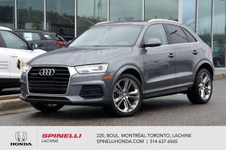 Used 2017 Audi Q3 Progressiv AWD CUIR TOIT AWD CUIR TOIT MAGS BLUETOOTH for sale in Lachine, QC