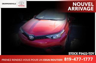 Used 2017 Toyota Corolla iM BAS KILO / CAMÉRA RECUL for sale in Drummondville, QC