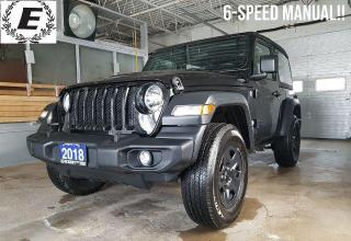 Used 2018 Jeep Wrangler SPORT JL  WE ARE OPEN FOR BUSINESS!! for sale in Barrie, ON