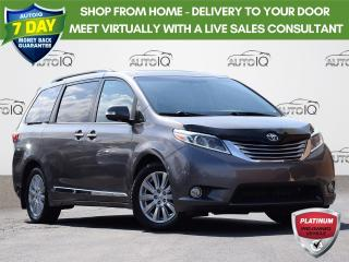 Used 2017 Toyota Sienna Limited 7-Passenger LIMITED | 7-PASSENGER | 3.5 L | FWD | LEATHER | SUNROOF | WINTER & ALL SEASON TIRES for sale in Waterloo, ON