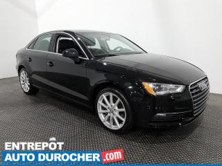 Used 2016 Audi A3 2.0T Progressiv - AWD - Toit Ouvrant - Climatiseur for sale in Laval, QC