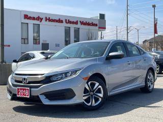Used 2018 Honda Civic Sedan LX  - Bluetooth - Rear Camera - Heated Seats for sale in Mississauga, ON