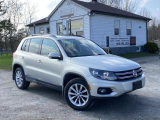 Used 2014 Volkswagen Tiguan No-Accidents Highline AWD Leather Pano Roof Bluetooth MINT for sale in Sutton, ON